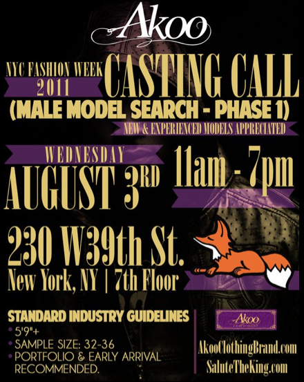 Harlem Fashion Week Casting