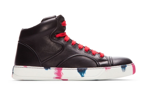 lanvin-black-leather-painted-mid-top-sneakers-1