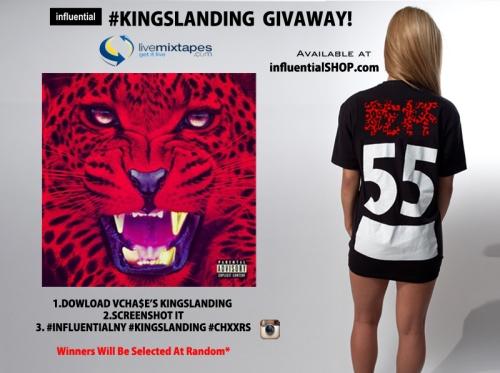 influentialNY Vinny Cha$e Kingslanding Giveaway