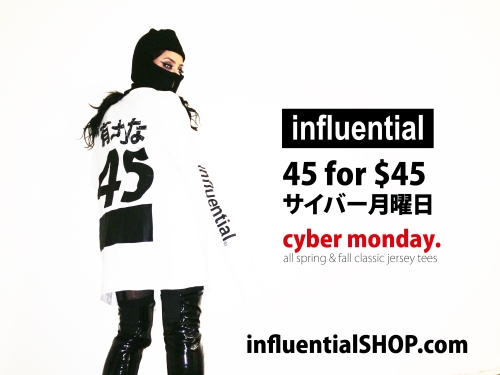 influential jersey tee promo